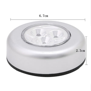 3 LED Under Cabinet Closet Light Kitchen Bedroom Cupboard Light Wireless Magnetic Corridor Stair Night Lamp Battery Powered