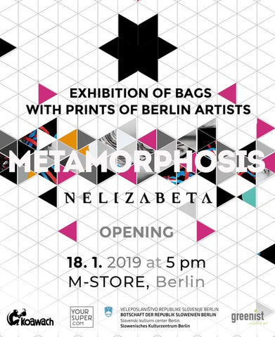 Nelizabeta Metamorphosis bag exhibition in M Studio Berlin