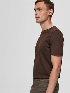 Selectedhomme theperfect tee coffee bean
