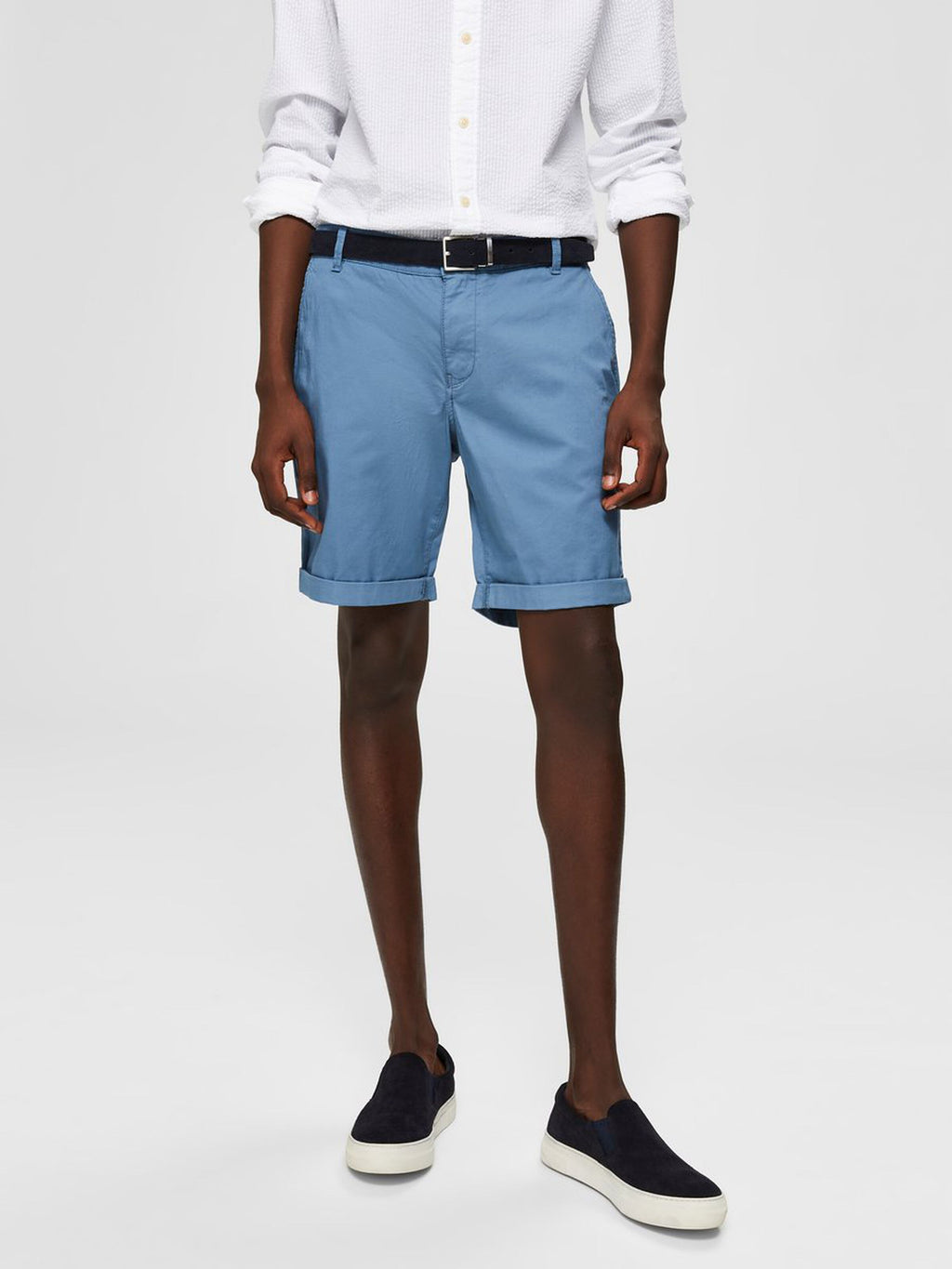 Selectedhomme straight-paris shorts captains blue