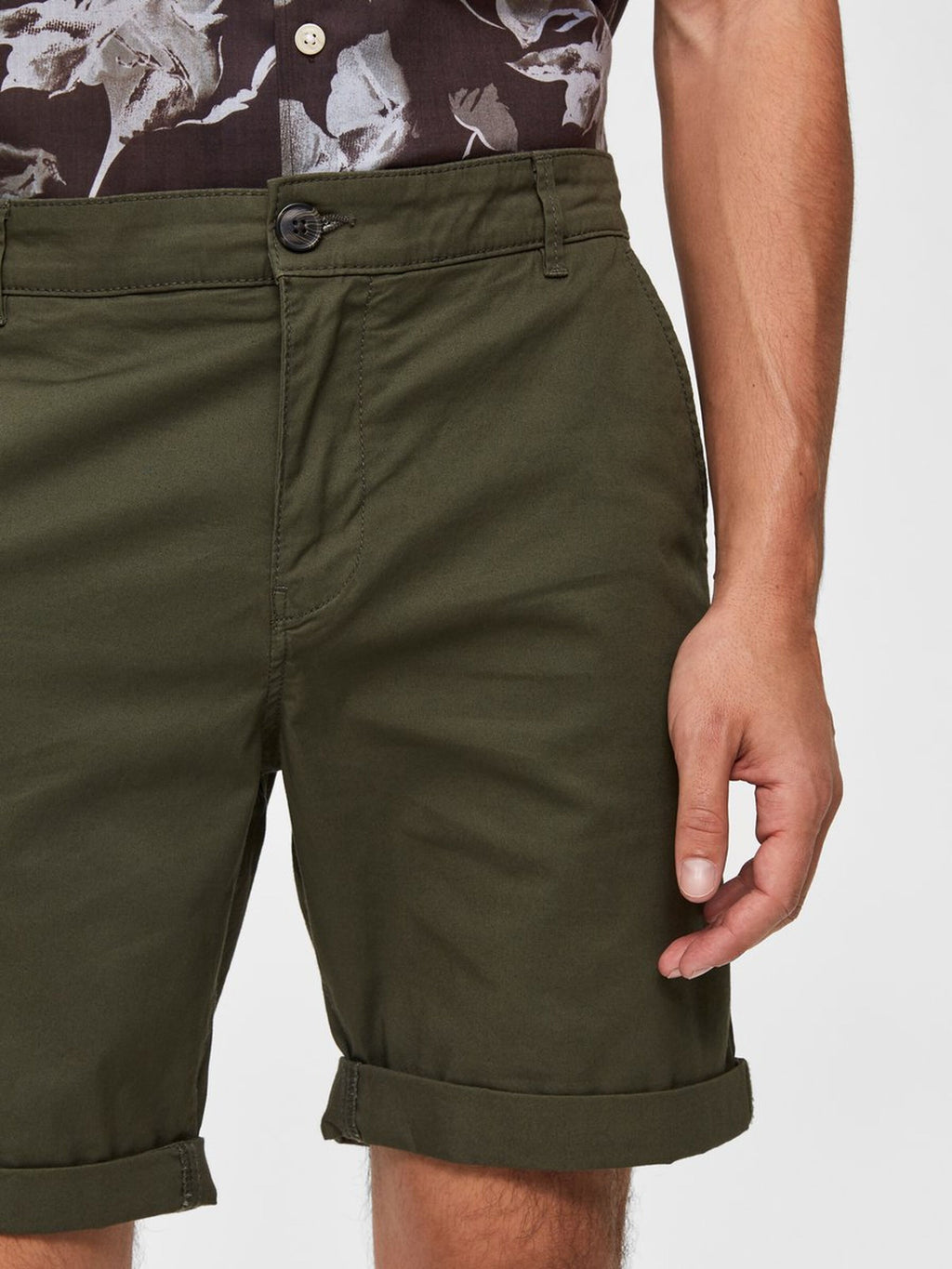 Selectedhomme straight-paris shorts deep depths