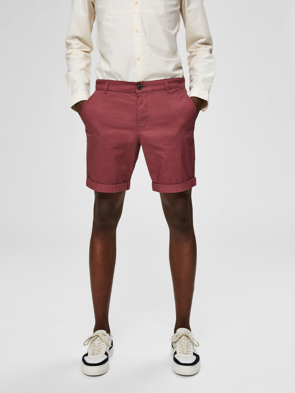 Selectedhomme straight-paris shorts wild ginger