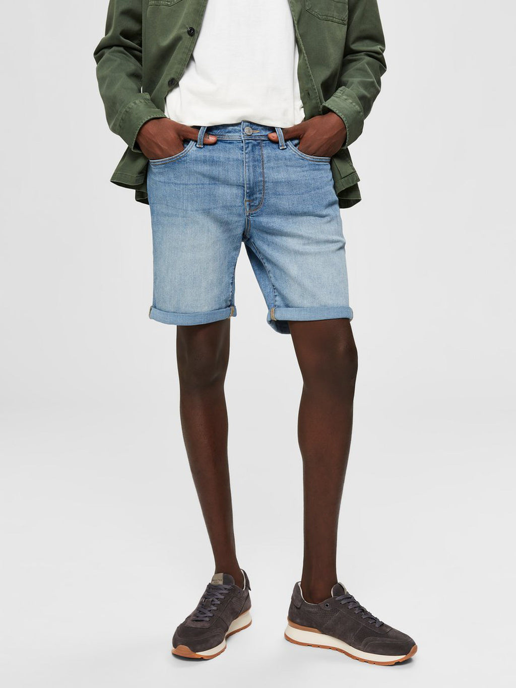 Selectedhomme alex 330 short light blue denim