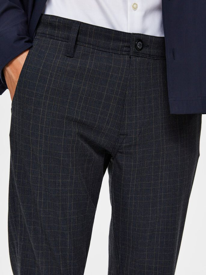 Selectedhomme slim-storm flex smart pants dark sapphire check