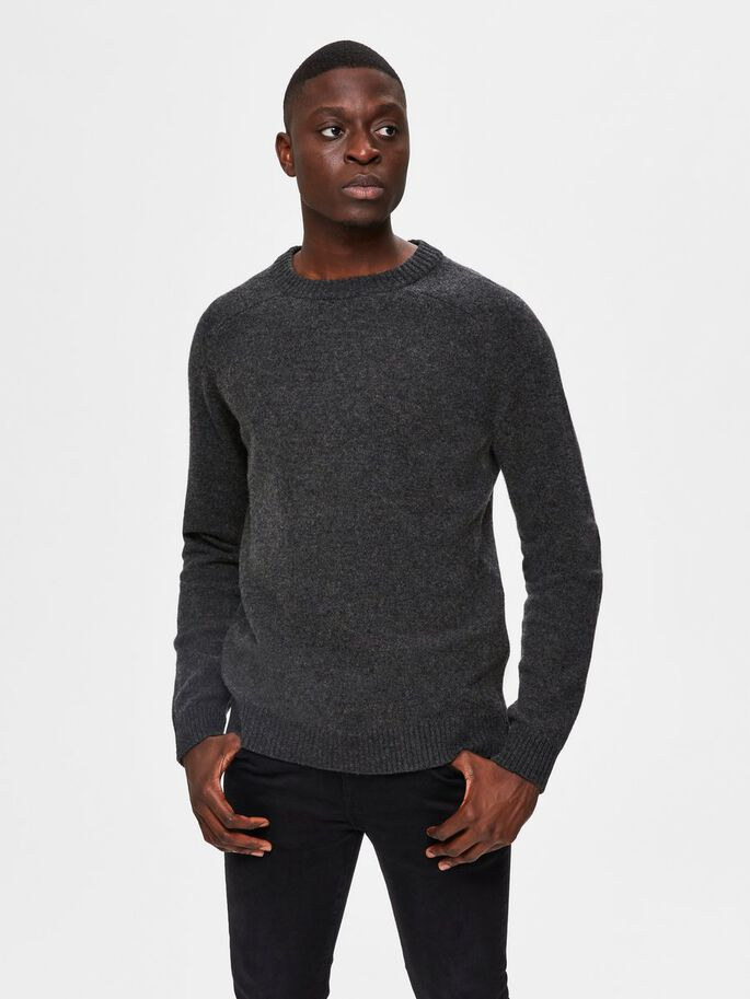 Selectedhomme newcoban lambs wool anthracite kelp