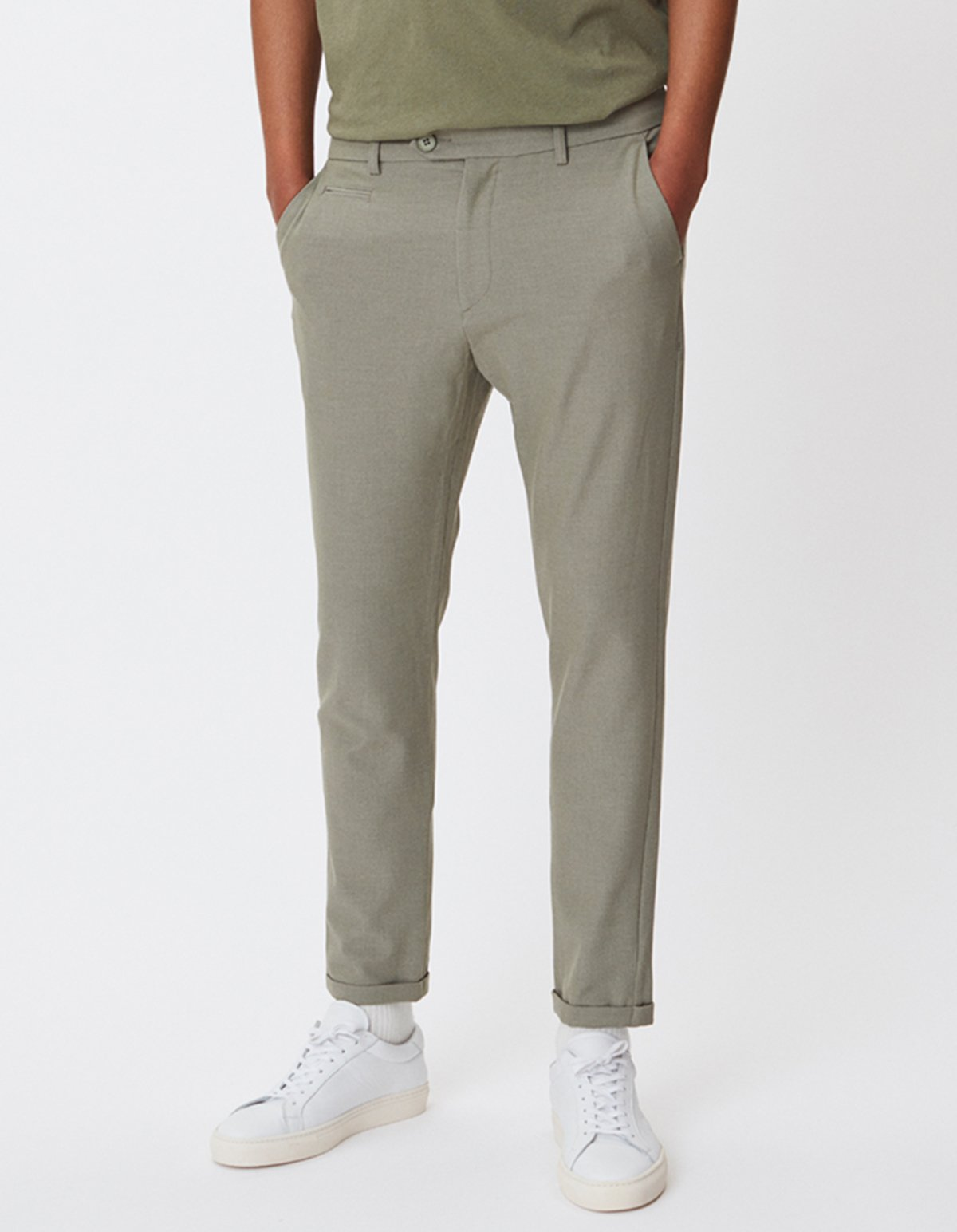 Les deux como light suit pants lichen green