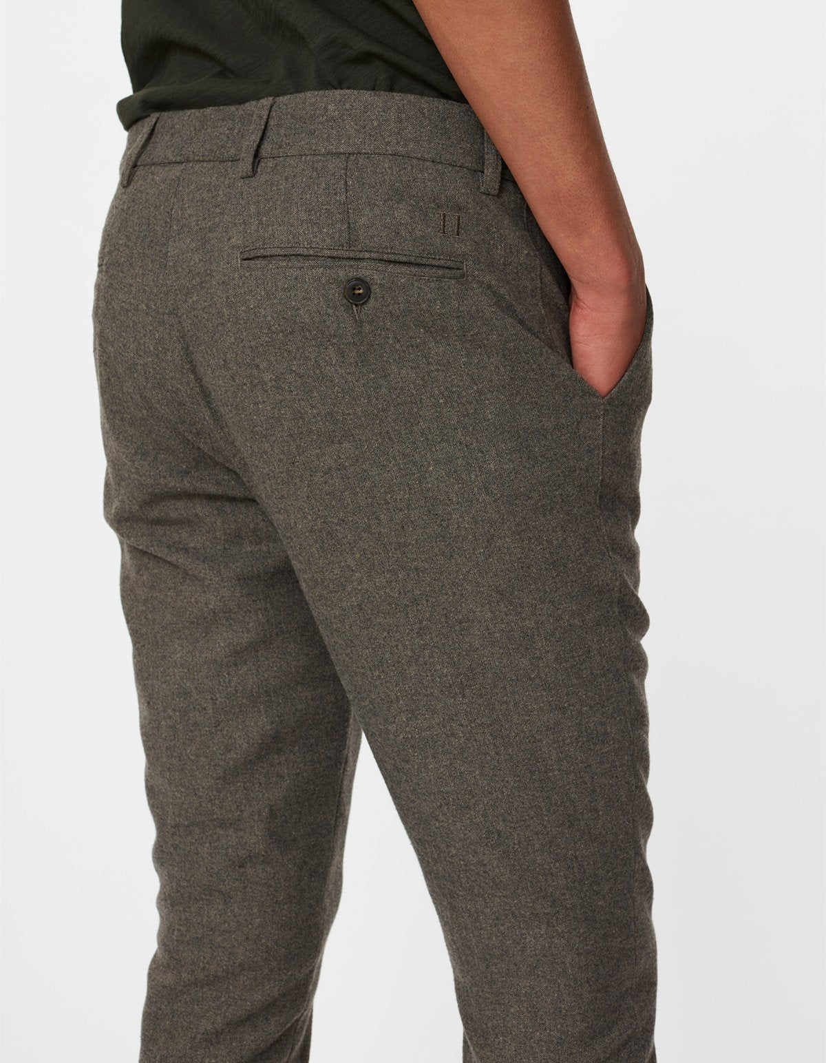 Les deux como wool suit pants dark sand