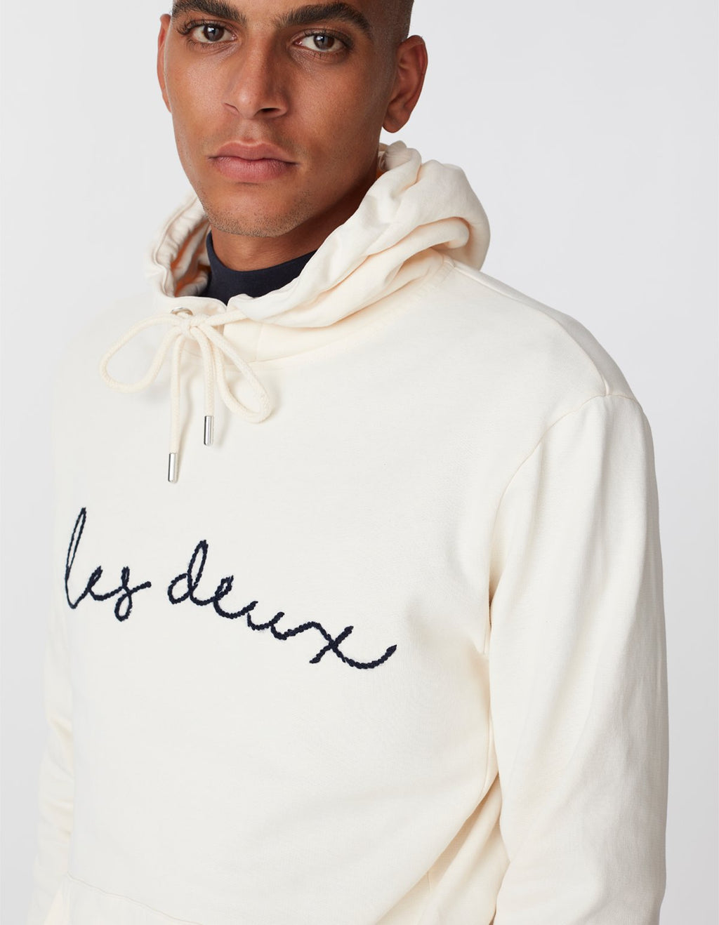Les deux grand hoodie off white dark navy