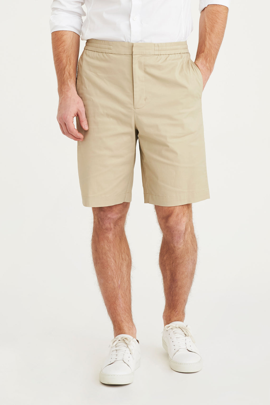 Plain erik shorts light khaki
