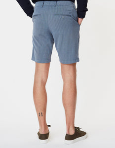 Les deux como light pinstripe shorts provincial blue grey melange