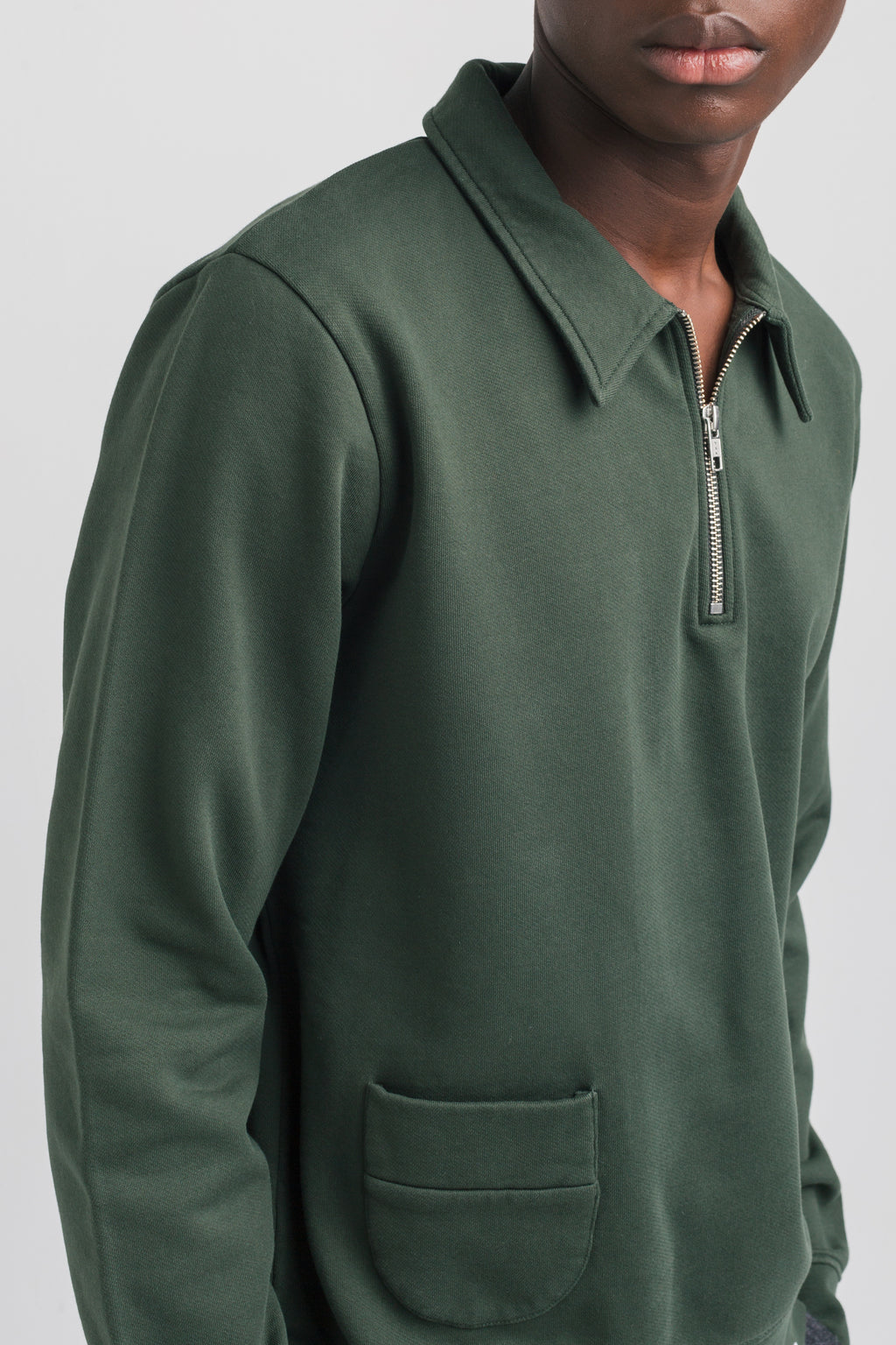 Edmmond actual zip plain green