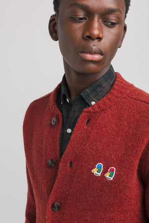 Edmmond shawl cardigan special duck plain brick