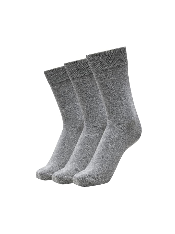 Selectedhomme 3-pack cotton sock grey