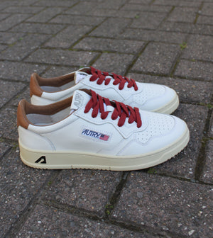 Autry sneakers leather white tobacco LN20
