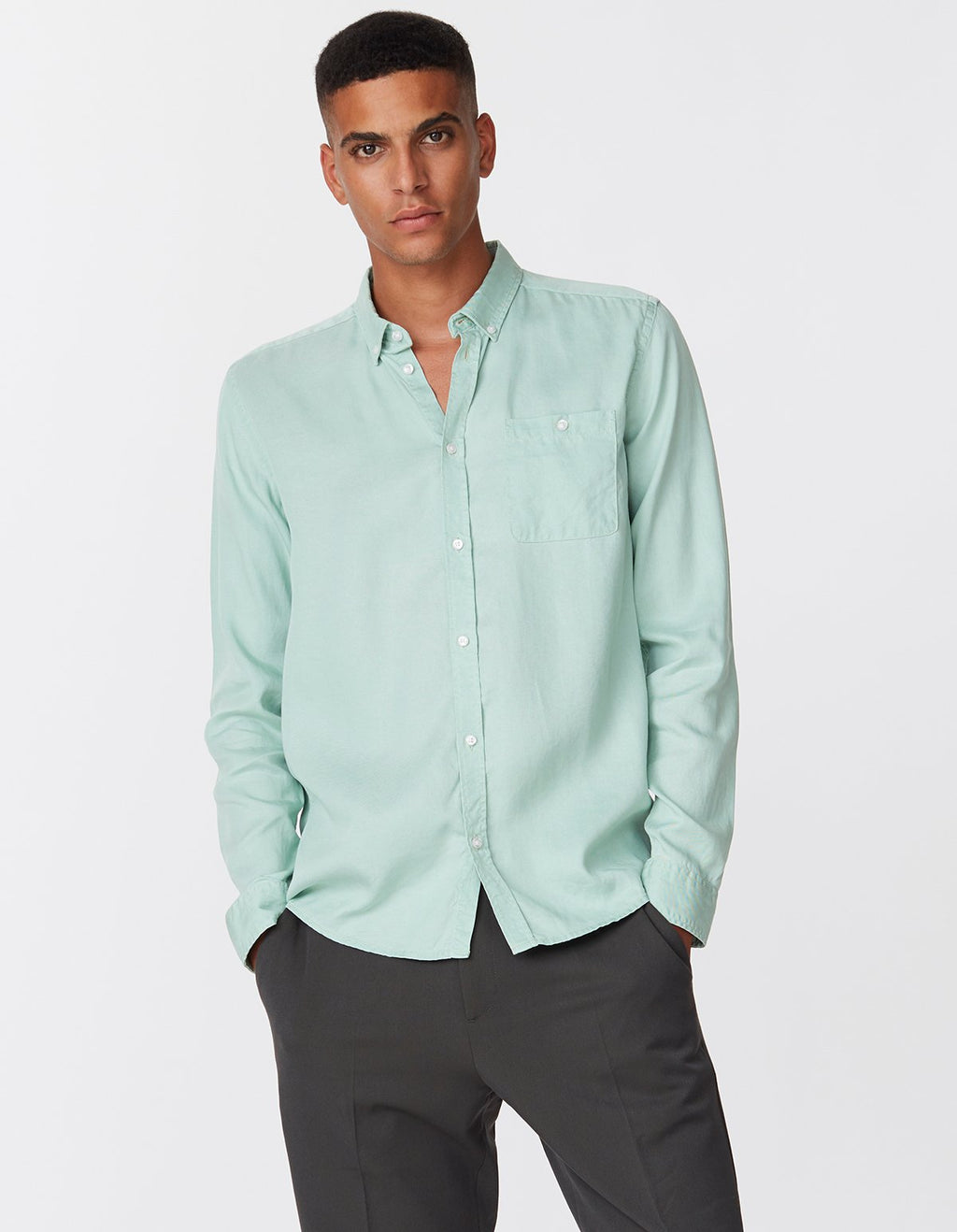 Les deux laurent tencel shirt mint