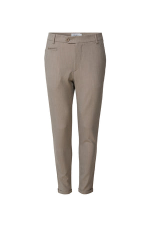 Les deux como light herringbone suit pants light brown insence off white