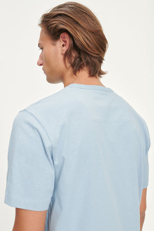 Samsoe samsoe hugo t-shirt 11415 dusty blue