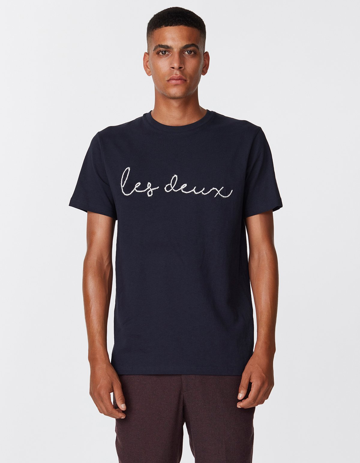 Les deux grand t-shirt dark navy off white