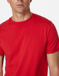 Les deux norregaard t-shirt red orange