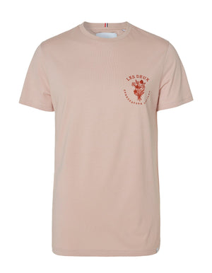 Les deux sprezzatura t-shirt dusty rose rust red