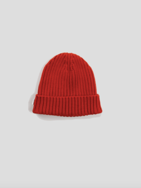 Edmmond wafle knit beanie plain brick