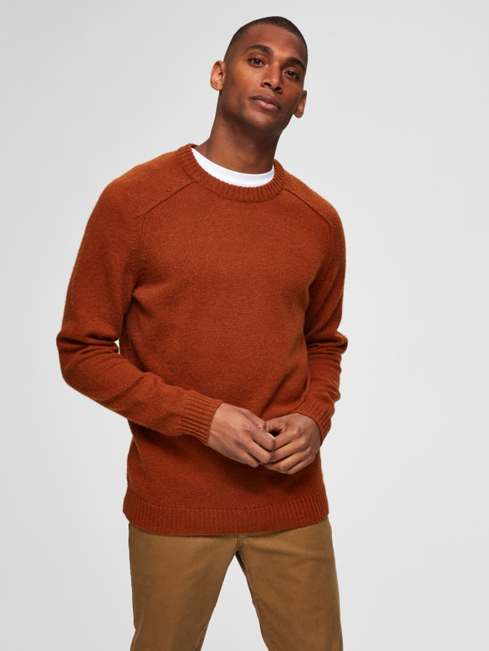 Selectedhomme newcoban wool caramel cafe