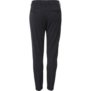 Les Deux como pinstripe suit pants black/white