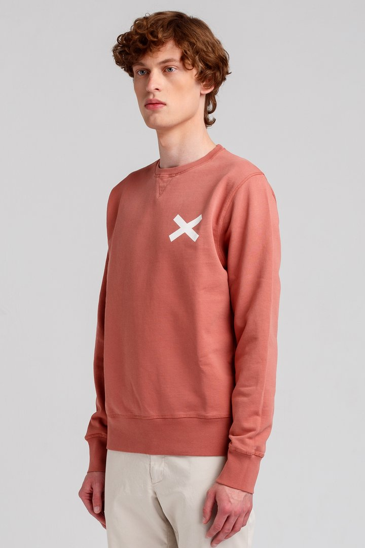 Edmmond cross sweater plain coral