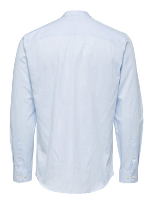 Selectedhomme slimjames shirt china light blue stripes