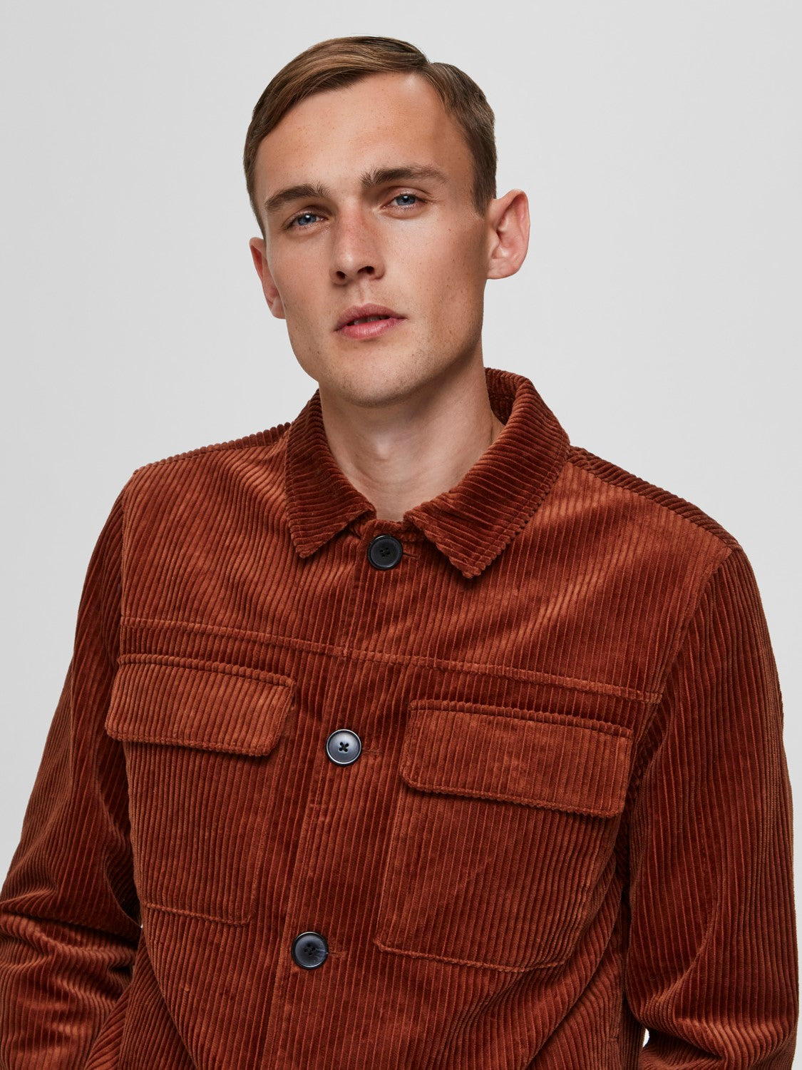Selectedhomme charlie corduroy jacket smoked paprika