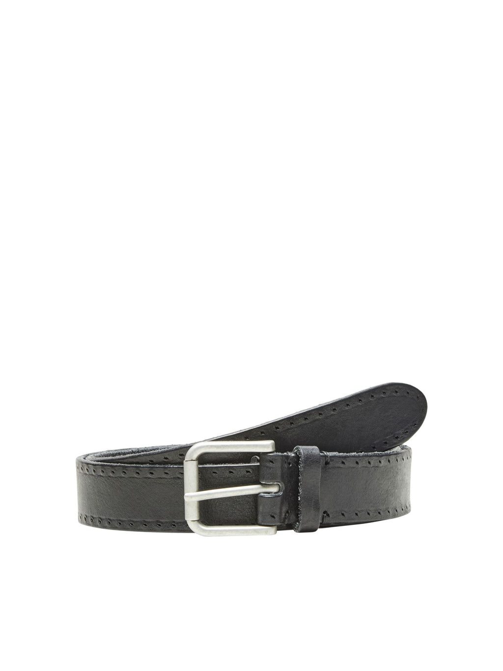 Selectedhomme terrel leather belt black