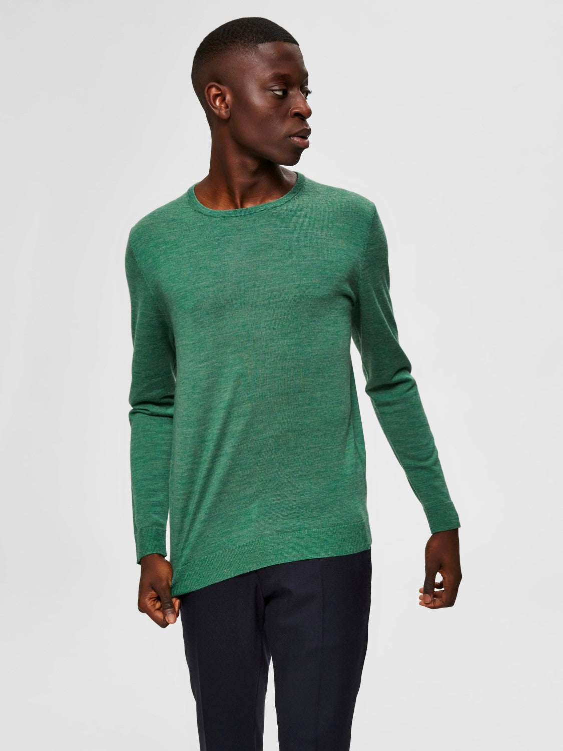 Selectedhomme tower new merino cedar green