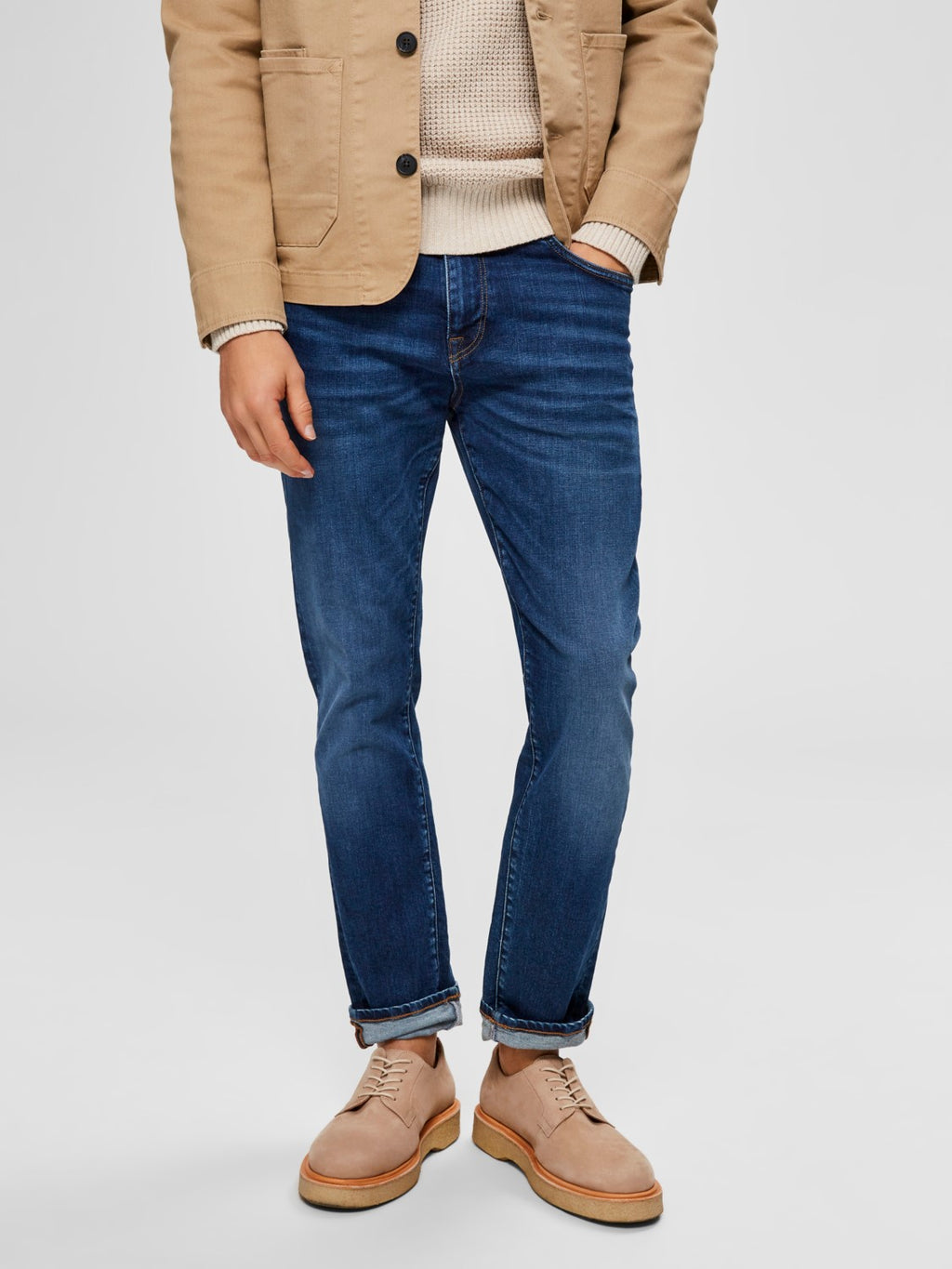 Selectedhomme slim-leon 6212 medium blue denim
