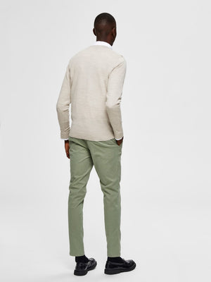 Selectedhomme tower new merino light sand melange