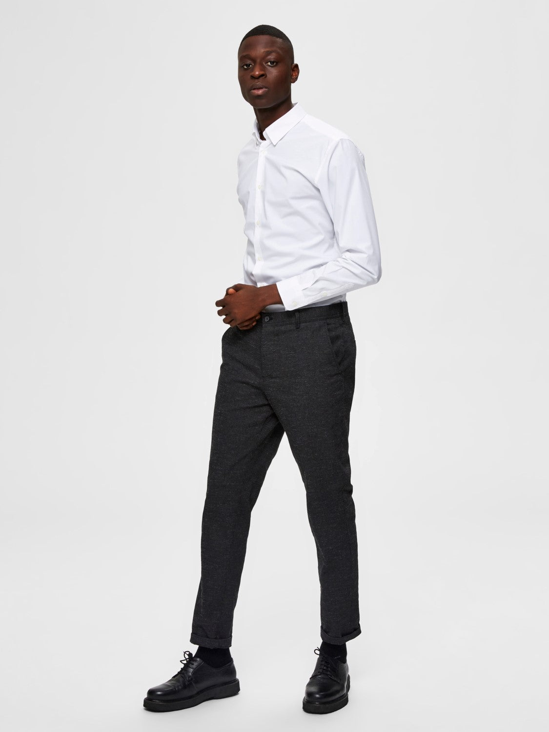 Selectedhomme slimmichigan shirt bright white
