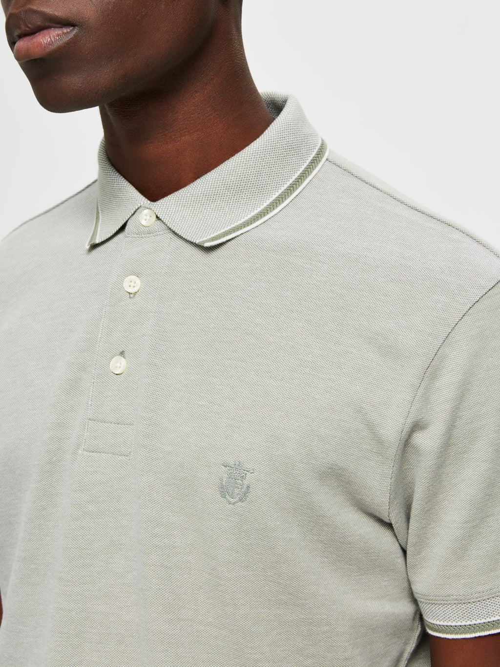 Selectedhomme twist polo sea spray
