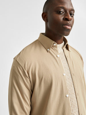 Selectedhomme slimoliver-knit flex shirt crockery