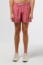 Edmmond classic leaves swimshort printed red