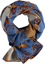 Load image into Gallery viewer, Light pattern mix scarf made of pure silk - Blue