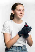 Load image into Gallery viewer, Miss Sparrow Agnes Gloves in Navy