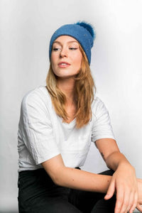 Miss Sparrow Bobble Hat in Denim