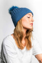 Load image into Gallery viewer, Miss Sparrow Bobble Hat in Denim