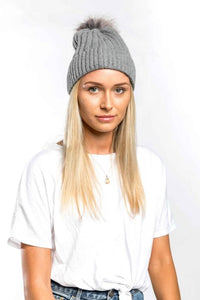 Miss Sparrow Bobble Hat in Grey