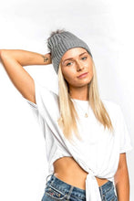 Load image into Gallery viewer, Miss Sparrow Bobble Hat in Grey