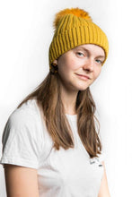 Load image into Gallery viewer, Miss Sparrow Bobble Hat in Mustard