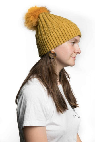Miss Sparrow Bobble Hat in Mustard