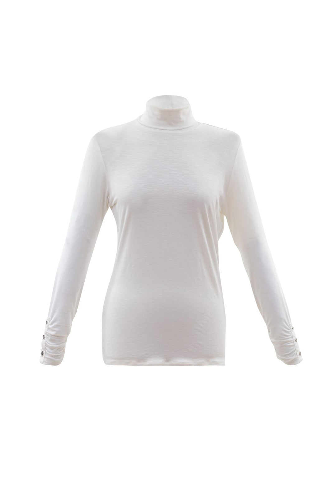 Marble Long-Sleeved Polo - Ivory