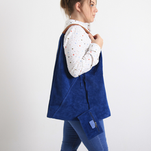 Load image into Gallery viewer, Bagitali Blue Suede Bag
