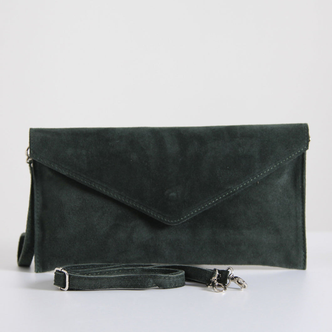 Bagitali Dark Green Clutch Bag