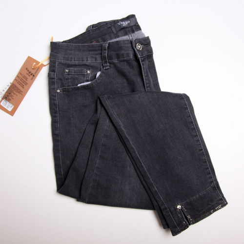 Voggo Black/Grey Detailed Jeans